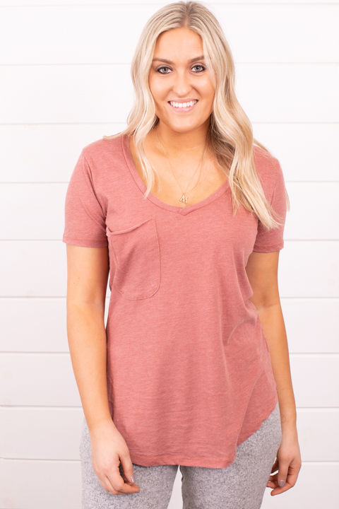 Z Supply The Pocket Tee Roan Rouge
