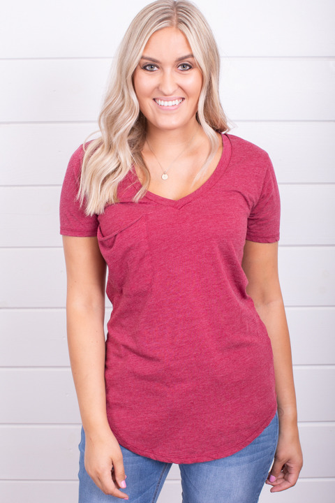 Z Supply The Pocket Tee Rumba Red