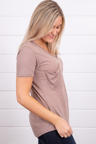 Z Supply The Pocket Tee Taupe Grey 4