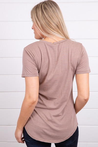 Z Supply The Pocket Tee Taupe Grey 2
