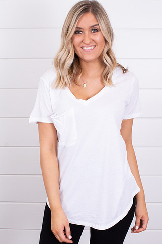 The Pocket Tee White