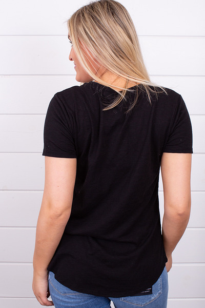 Z Supply The Airy Slub Pocket Tee Black 3