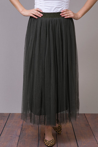 O2 Collection Olive Tulle Skirt