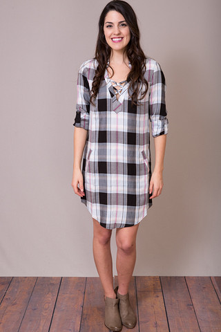 Billy T Holiday Plaid Tunic