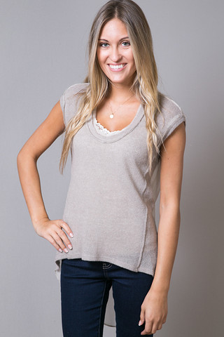 Heather by Bordeaux Drape Back Top