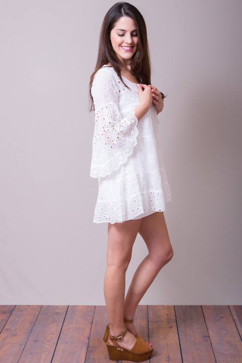 Johnny Was Collection White Bell Sleeve Tunic 2