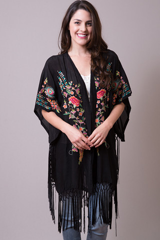 Johnny Was Collection Fringe Kimono