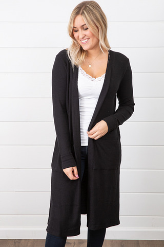 Michael Stars Madison Brushed Long Cardigan