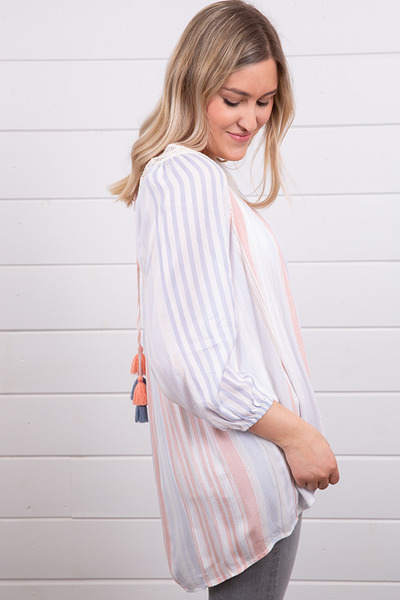 Mystree Square Neck Stripe Tunic 2