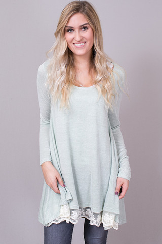 Lace Long Sleeve Sage