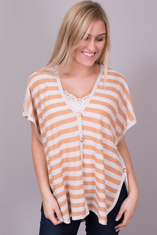 Mystree Stripe Button Down