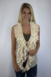 Pleated Ruffle Vest